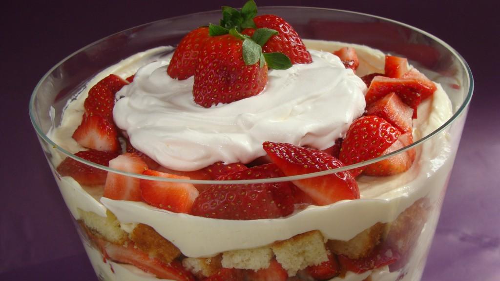 Strawberry Vanilla Trifle