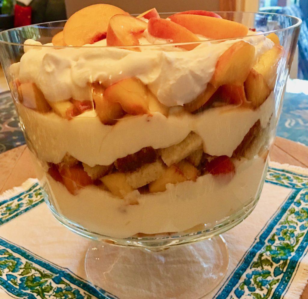 Vanilla Peach Trifle